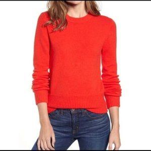 J Crew Crewneck Sweater in Super Soft Yarn Red NWT